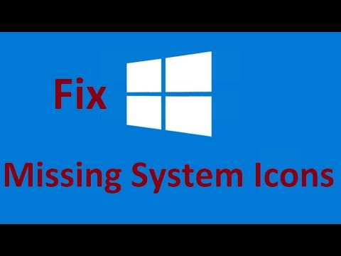 Windows 10 System icons missing! Fix - Howtosolveit