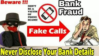 Never disclose your Bank details ~ fraud call - Call recording | Be Aware