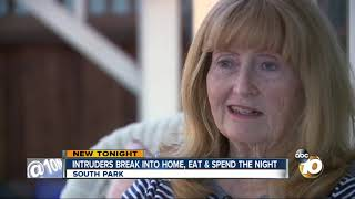 intruders break into home, eat and spend the night