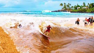 RIVER SURFING IN HAWAII (WAIMEA BAY)