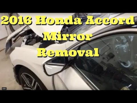 2013 2014 2015 2016 2017 Honda Accord ---- Mirror Removal Replace Install How to Remove