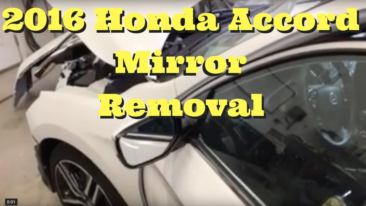 2013 2014 2015 2016 2017 Honda Accord Mirror Removal Replace Side Diagram Install How To Remove