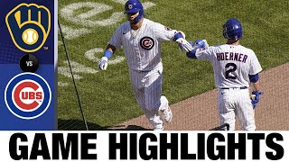 Contreras, Happ, Rizzo homer in 9-1 win   Brewers-Cubs Game Highlights 7/26/20