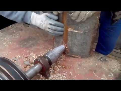 Despicator lemne cu surub home made motor 1.8Kw