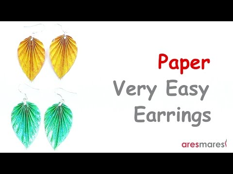 Paper Very Easy Earrings (easy - single sheet)