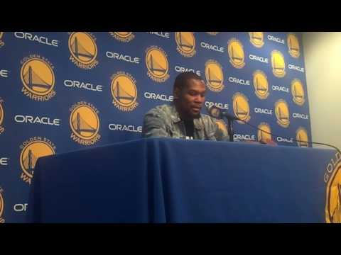 DURANT, POSTGAME Warriors (35-6)/Cavs: rivalry, Livingston/Iguodala, Draymond/LeBron, Stephen Curry