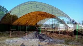видео: Зернохранилище тентовое