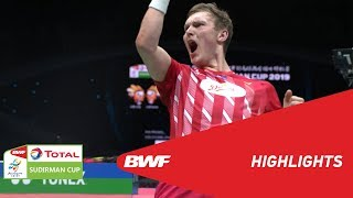 TOTAL BWF SUDIRMAN CUP 2019 | MS | CHINA VS DENMARK | BWF 2019