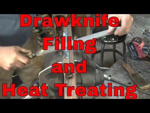 Forging a draw knife part 2 - filing, hardening and tempering