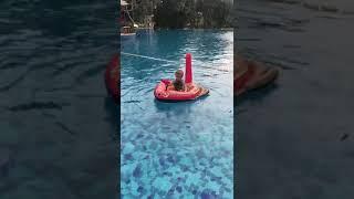 Надувная лодка Пиратский корабль с водным пистолетом