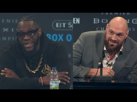 DEONTAY WILDER VS TYSON FURY - THE FULL LONDON KICKOFF PRESS CONFERENCE & FACE OFF VIDEO