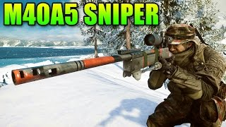 Sniper Sunday - M40A5 Rate Of Fire or Muzzle Velocity? | Battlefield 4 Sniper Gameplay