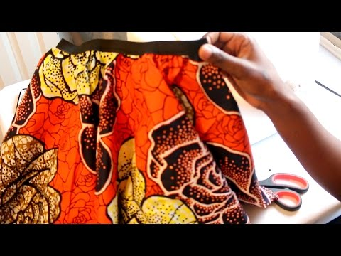 Sewing tutorial : Circle Skirt | African printed fabric