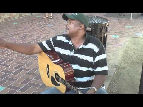 Stoney B Blues Guitarist Live on the Streets of San Diego