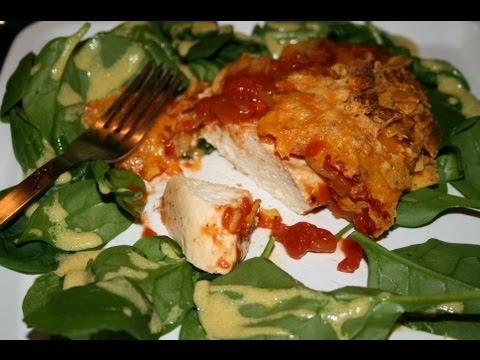 poulet-salsa-croustillant-gratiné-au-cheddar
