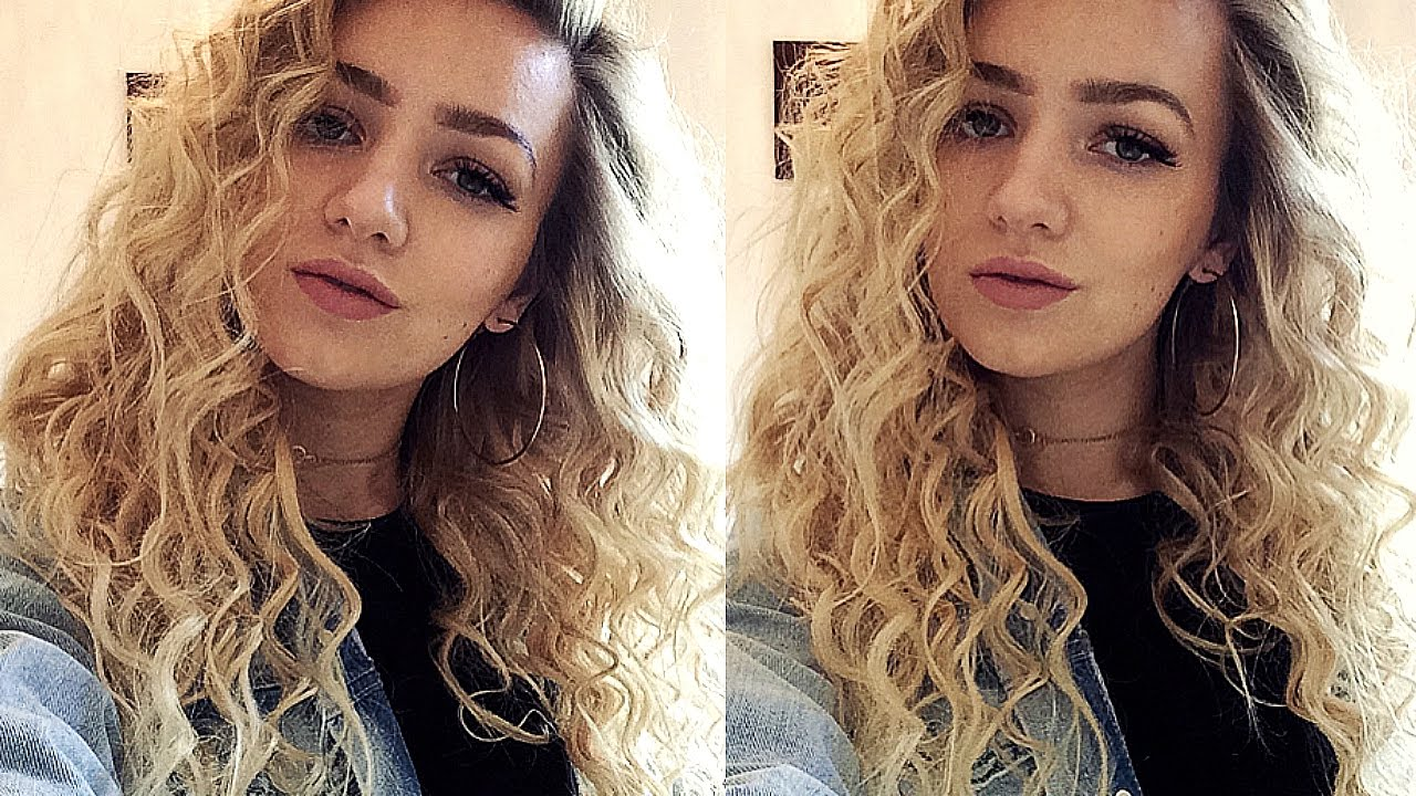 tight curls hair tutorial