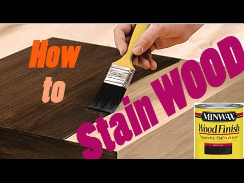 How To Stain Wood | AMAZING Results!! #diy #finish