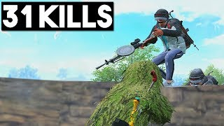I PRETENDED TO BE A BOT!! | 31 KILLS SOLO vs SQUADS | PUBG Mobile 🐼