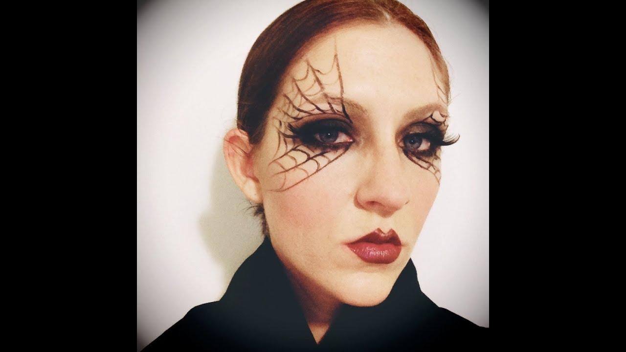 Halloween Makeup: Easy Black Widow - YouTube
