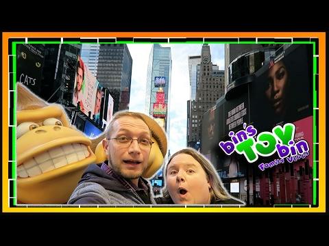 Our Day in New York City!! Nintendo, Disney, Lego, and Rockefeller Center | BTB Daily Vlog