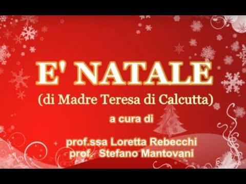 E Natale Da Una Poesia Di Madre Teresa Di Calcutta By Lrst