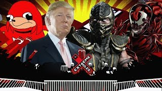 Uganda Knuckles VS Donald Trump VS Scorpion VS Carnage (WWE 2K18)