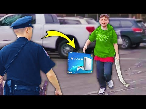 kid STEALS PS4 from GameStop.. (BIG MISTAKE)