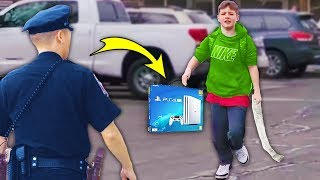 Kid Steals Ps4 At Gamestop..  Big Mistake