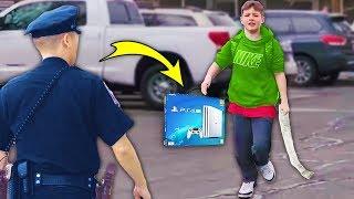 kid STEALS PS4 at GameStop.. (BIG MISTAKE)