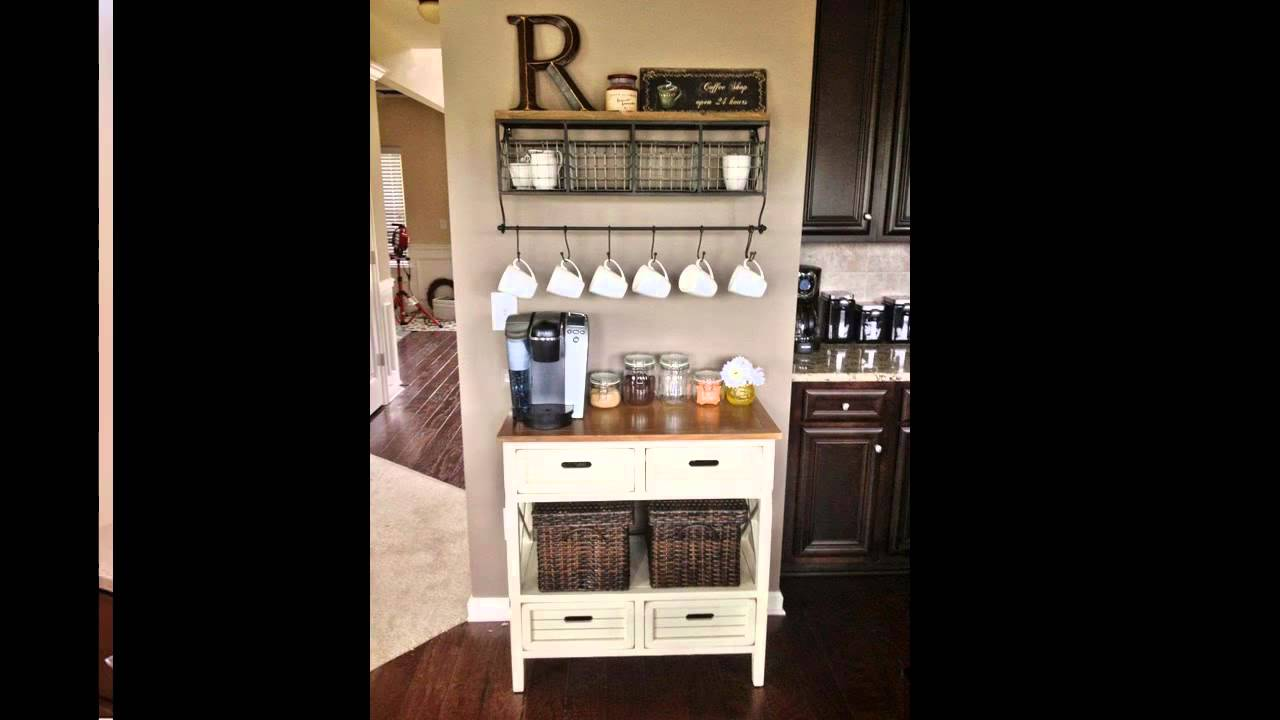 Great Home Coffee Bar Ideas   YouTube