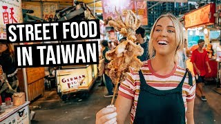 We Tried Taiwanese Street Food in Taiwan Night Market ...