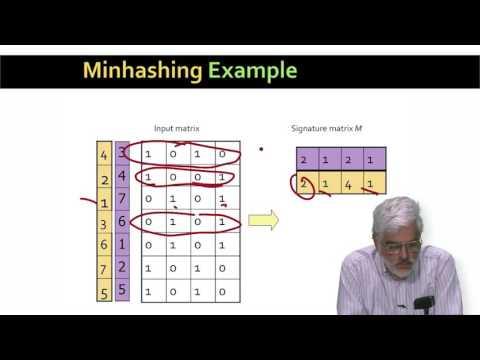 Minhashing | Mining of Massive Datasets | Stanford University