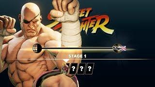 Street Fighter V Arcade Edition - Sagat Arcade Mode (Street Fighter 1 Path)