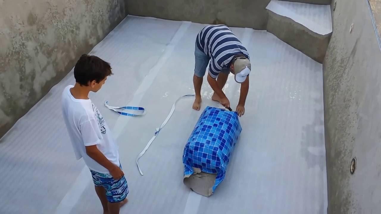 Como instalar uma piscina de vinil 1 3 youtube for Piscina de r 100