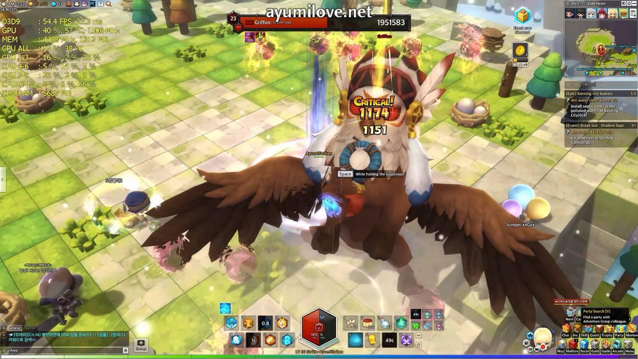 Ayumilove MapleStory2 Striker vs Grifina (Level 30) - BOSS RAID