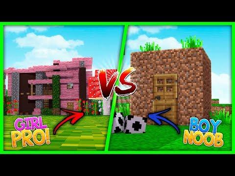 NOOB BOY HOUSE VS PRO GIRL HOUSE! (House Vs House)