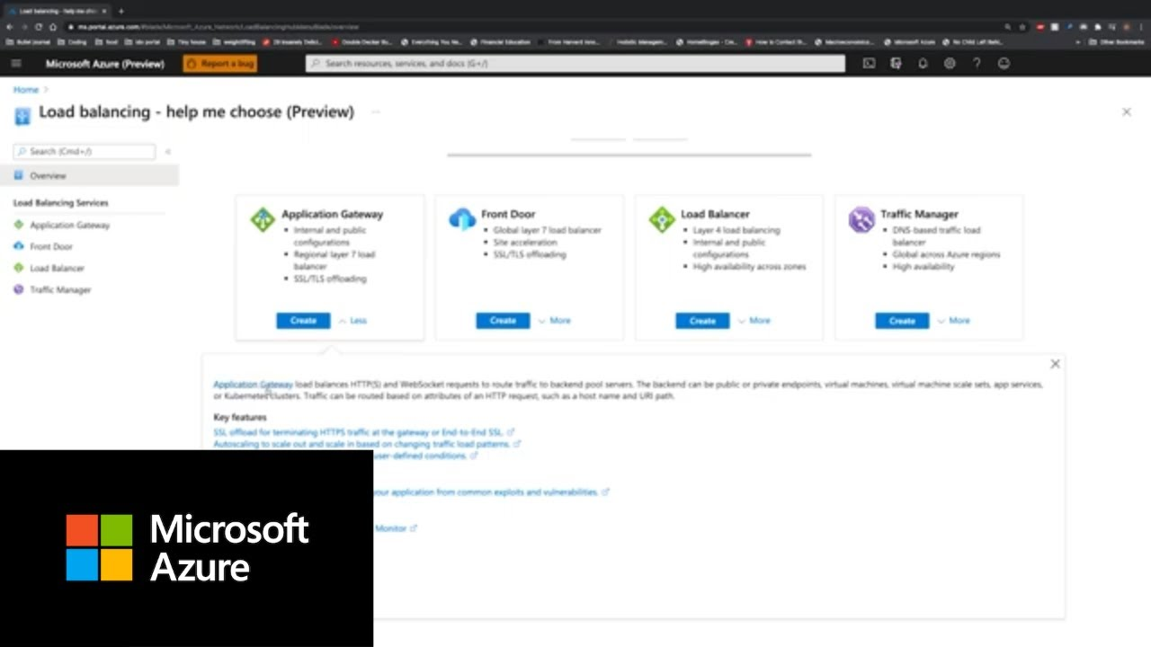 How to Find The Right Load Balancing Service | Azure Portal Series