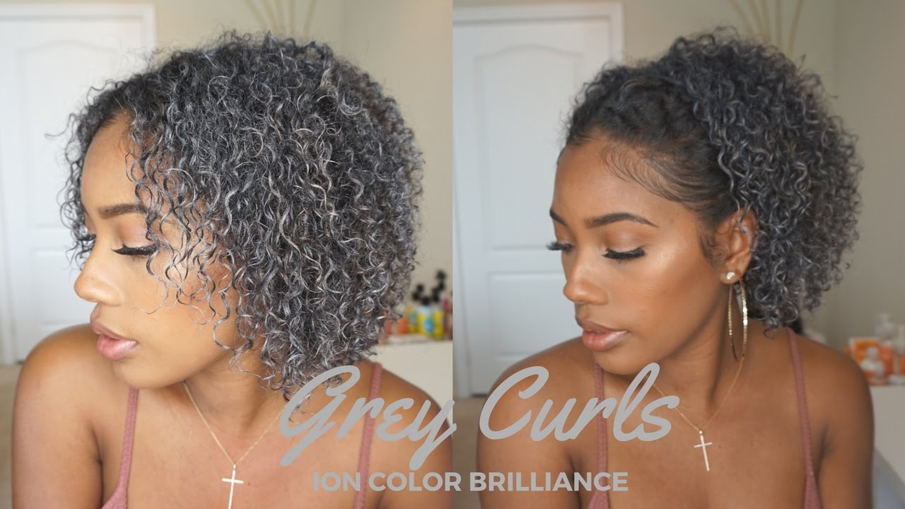 Going Grey Hair Makeup Ion Color Brilliance Gunmetal Youtube