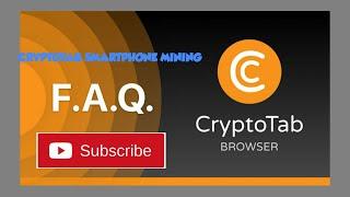 CryptoTab Mining Farm UPDATE!!! New Questions BIG NEWS?