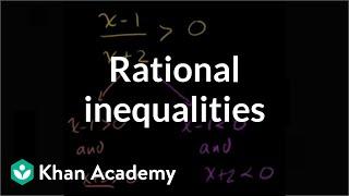 Rational inequalities | Polynomial and rational functions | Algebra II | Khan Academy