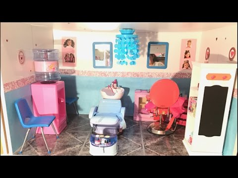 american doll spa room tour