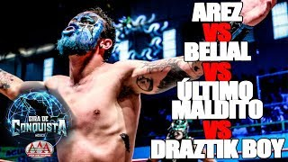 Arez Vs Belial Vs Último Maldito Vs Draztik Boy | Lucha Libre AAA Worldwide