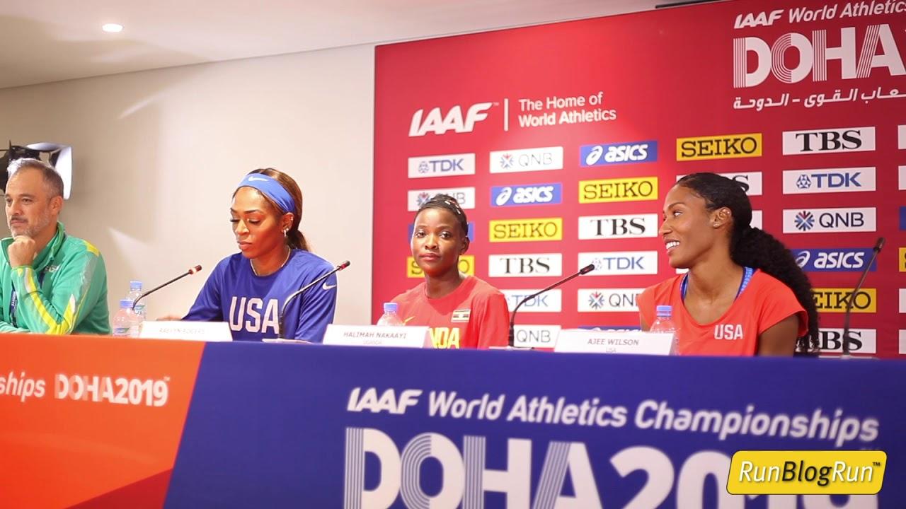 Doha WC 2019 - Women's 800m Final Press Conference