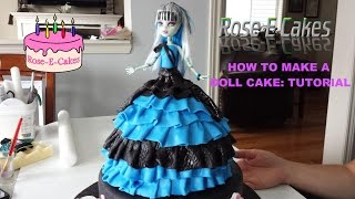 how to make a monster high doll cake frozen princess or barbie cake part 2