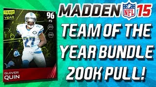 Madden 15 Ultimate Team - TEAM OF THE YEAR BUNDLE! CLUTCH ELITE PULL! - MUT 15