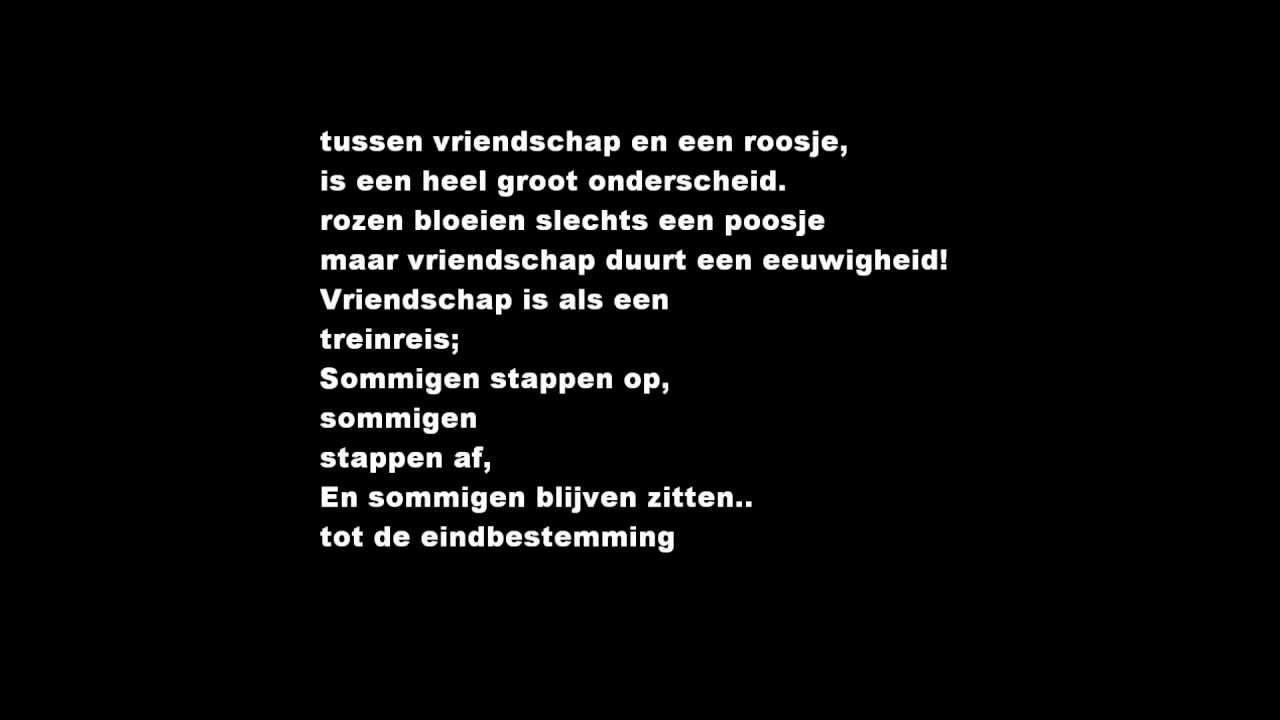 Zeer Vriendschap gedichten 2 - YouTube ED61