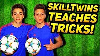 SkillTwins Teaches Football Tricks 2018! ★