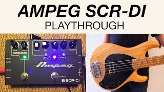 AMPEG SCR-DI playthrough with STINGRAY5