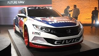2016 Honda Civic Red Bull Global Rallycross Race Car First Look - New York Auto Show 2016