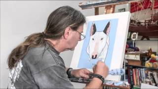 Wayne Paints Mako Bull Terrier